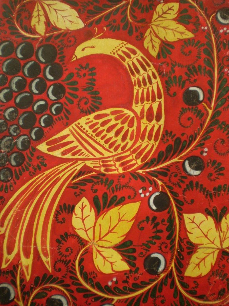 природную имитацию хохлома птица рисунок крупнейшему