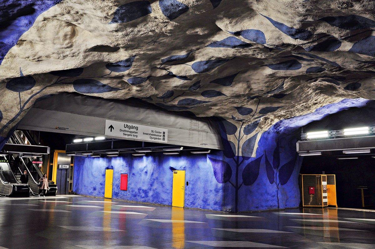 достоинство станции метро стокгольма фото рукой