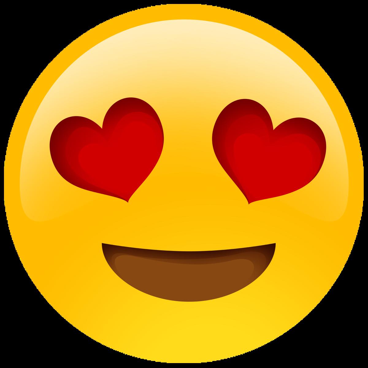 Картинки смайлики сердечек