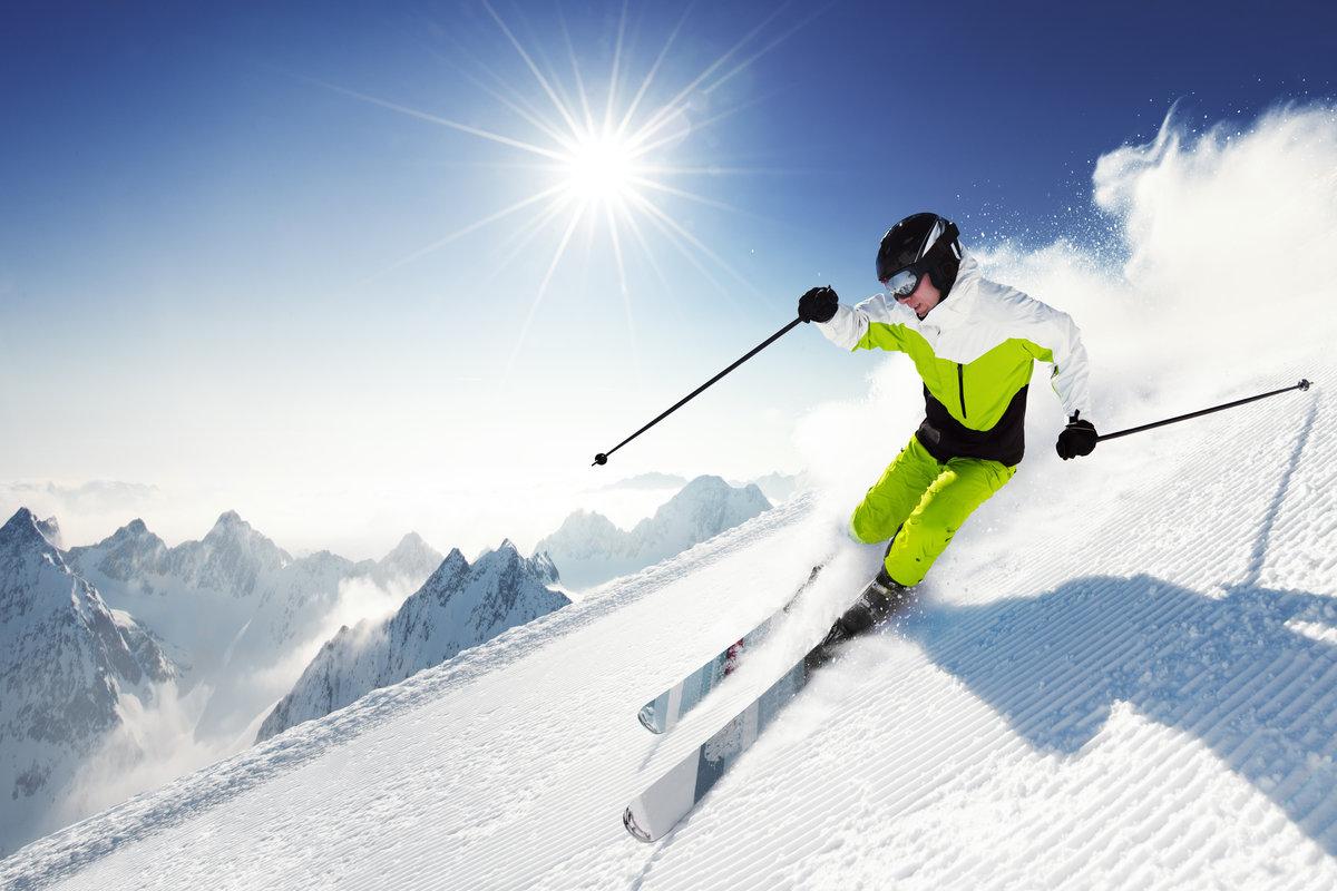 Картинки горные лыжи вельвет, днем