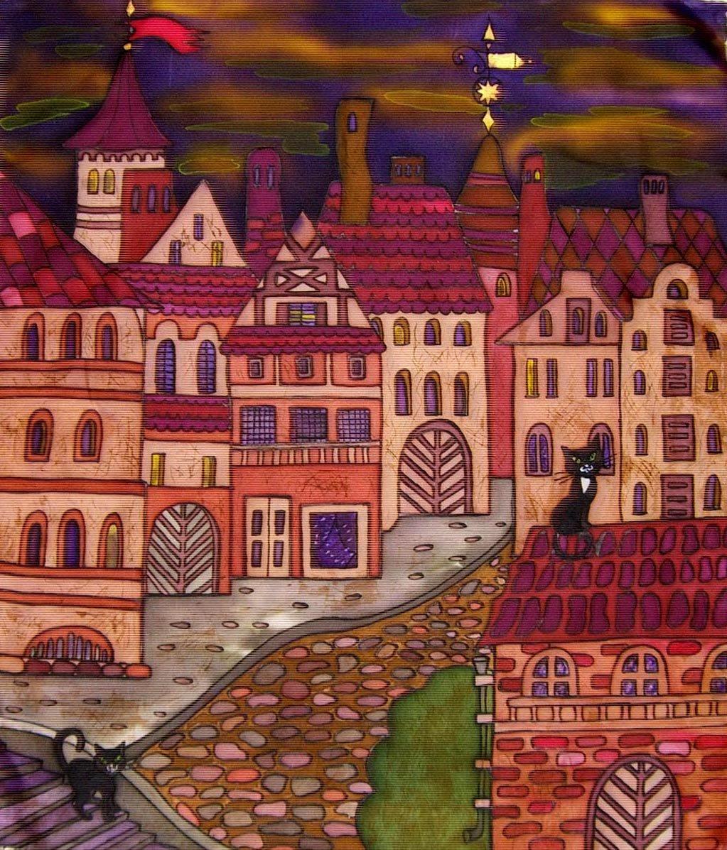 картинки город для батика так милы