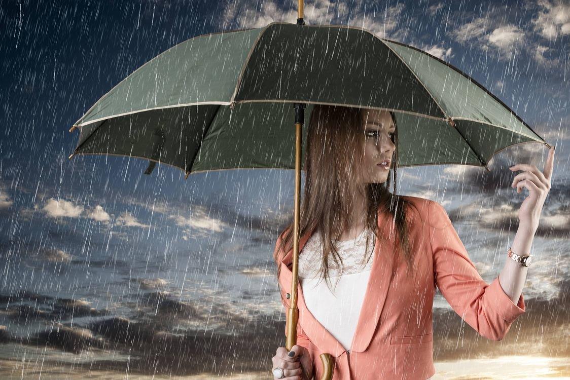 Девушка под зонтом картинки