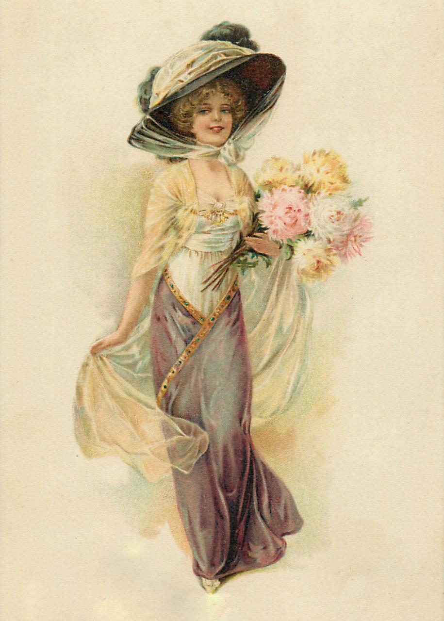 Женские открытки