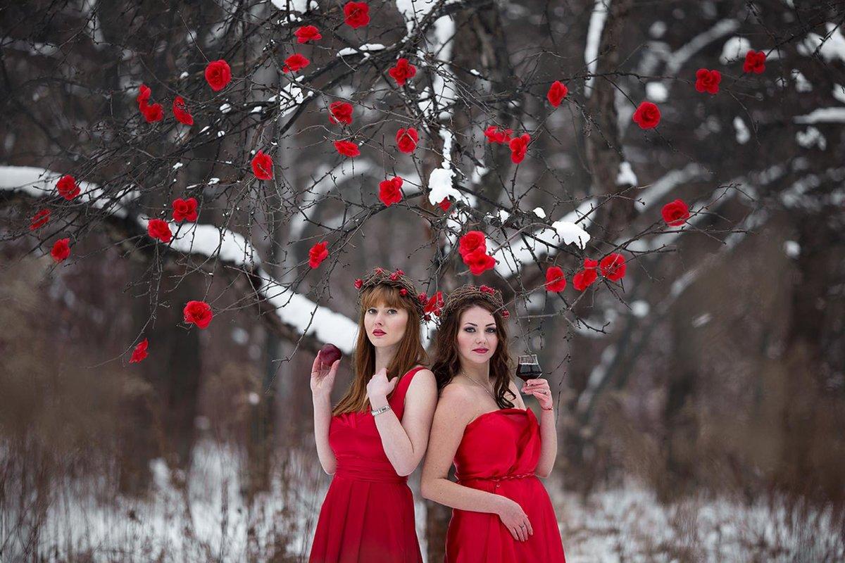 Фото подружек зимой, красивая женщина в секс