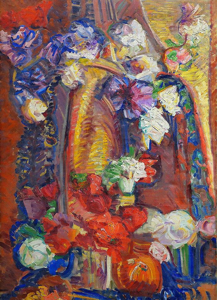 Василий Денисов. Натюрморт с цветами. 1910-е.» — карточка ...