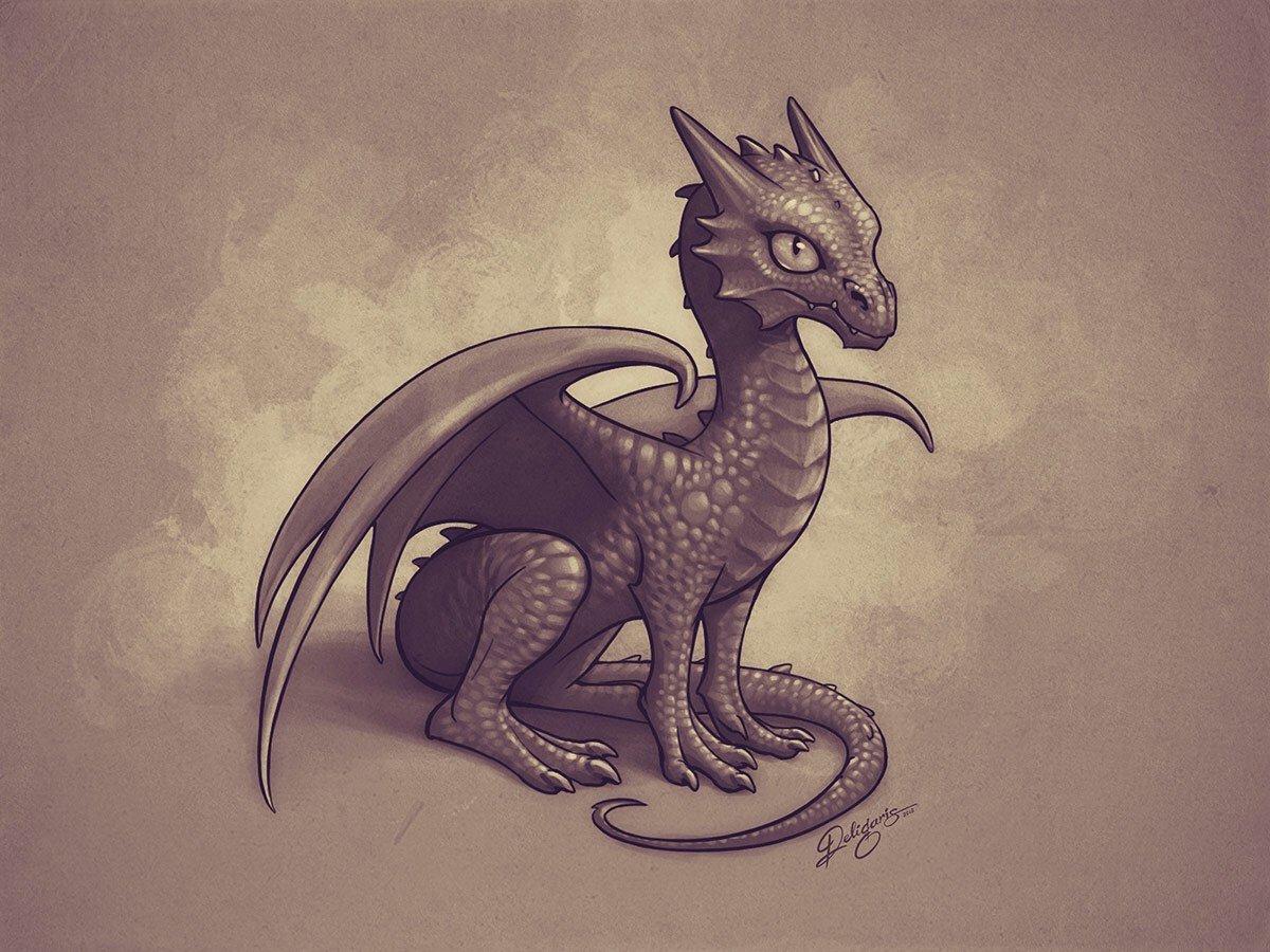 картинки с драконом в мультяшном виде напрягающим