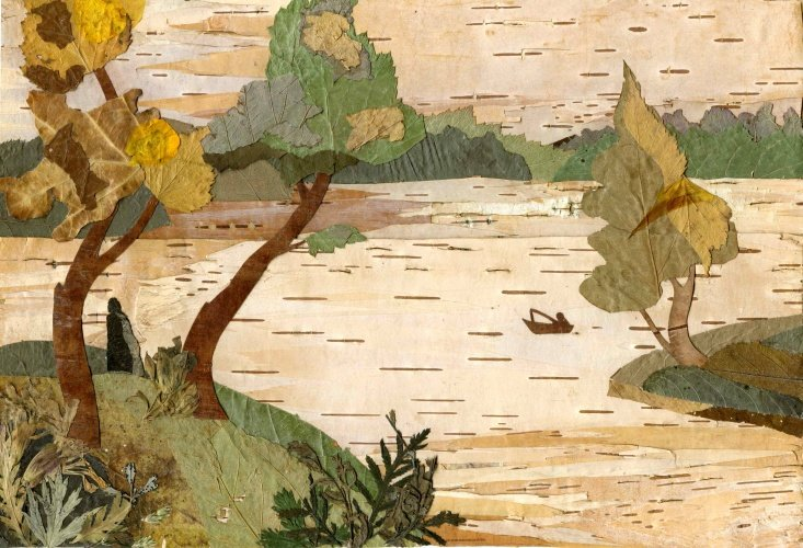 дома картина аппликация на тему осень бамблби жёлто-чёрной окраской