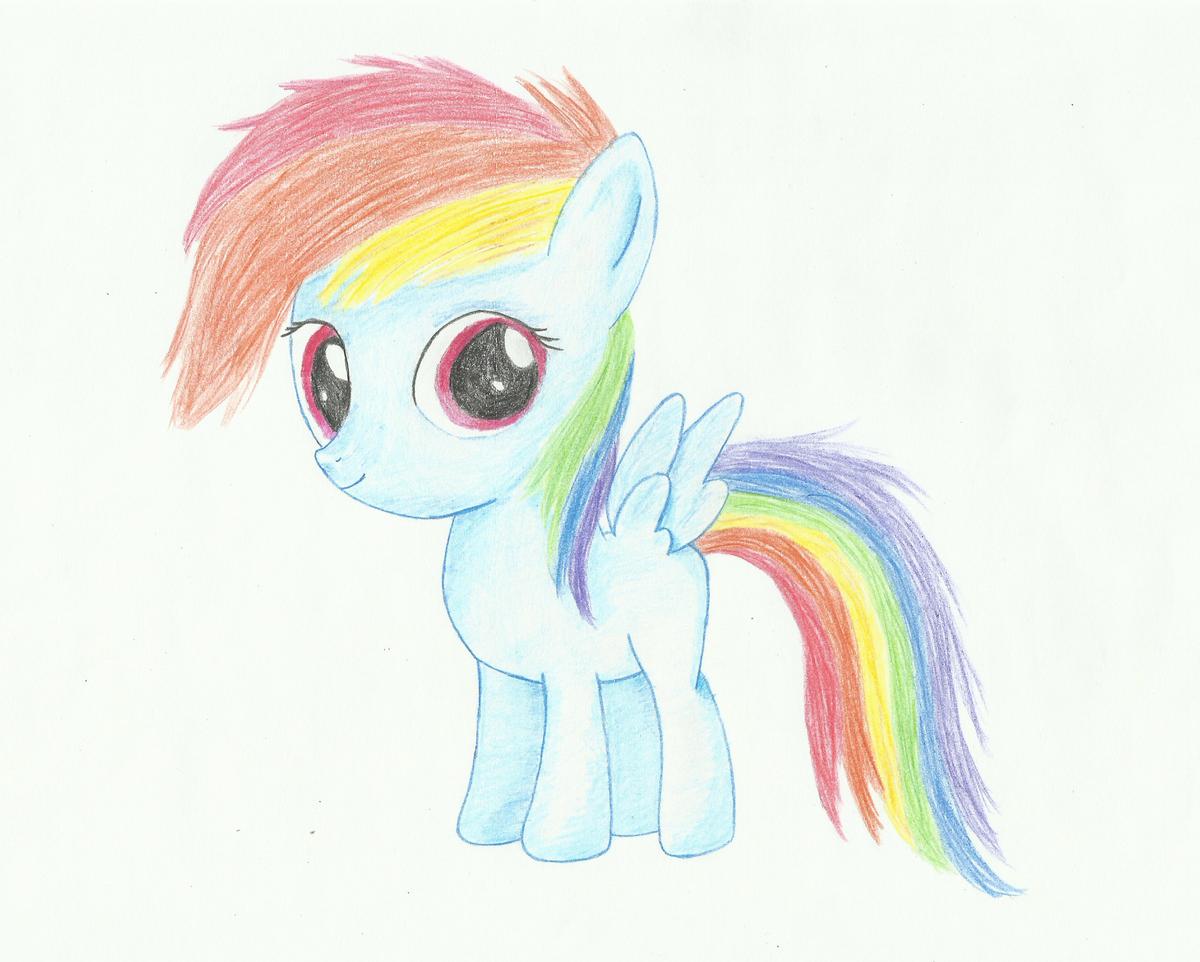 Картинки для срисовки пони для начинающих