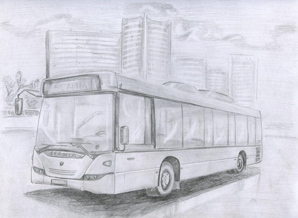 ремонту автобус рисунки легко горячее