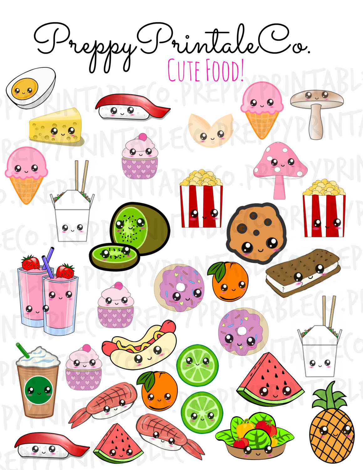 "8 best images of printable food stickers - free printable jo"" — card"