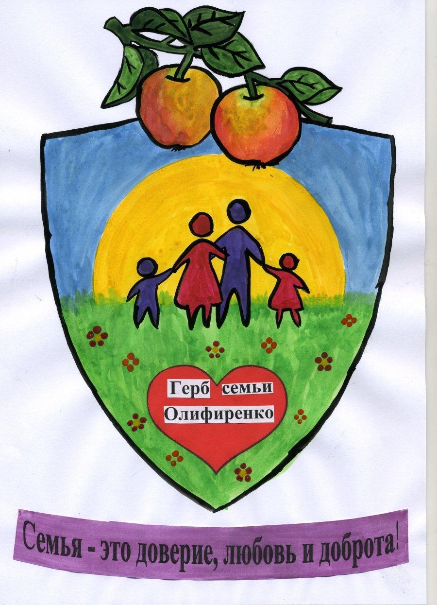 Герб и девиз семьи в картинках для детей
