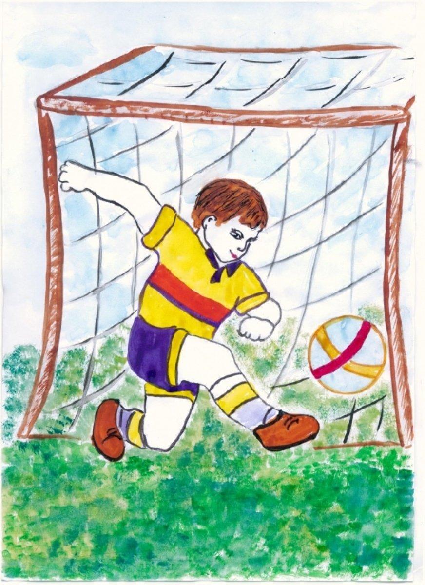 Рисунки на тему футбола для детей