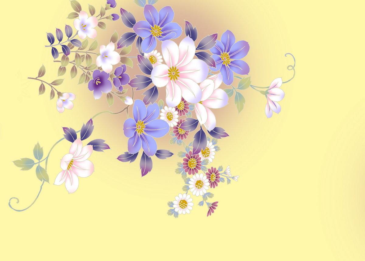 Про, цветочные орнаменты открытки