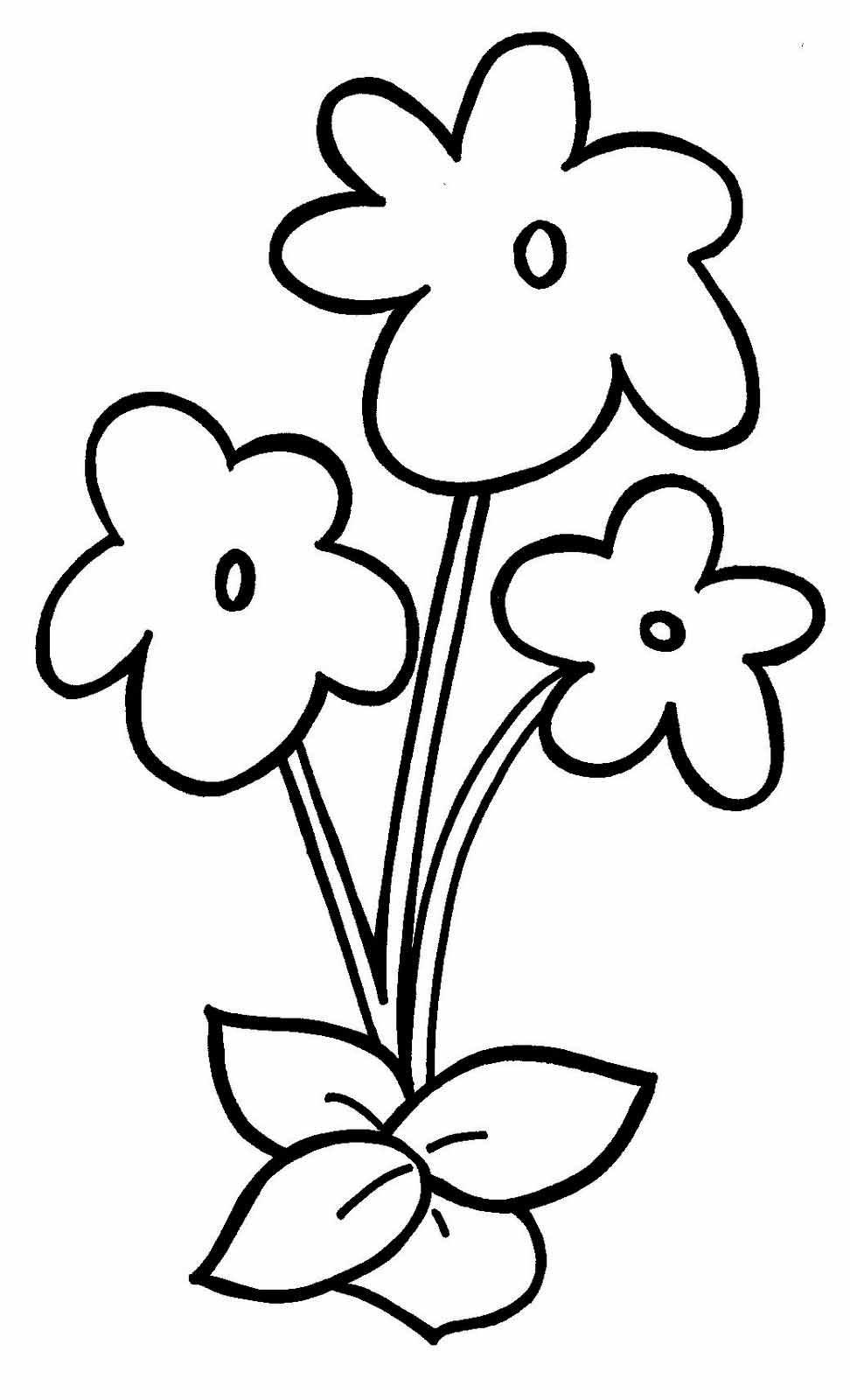 Картинки для раскраски цветочки