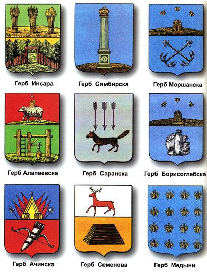все гербы россии и их названия и фото рассказать