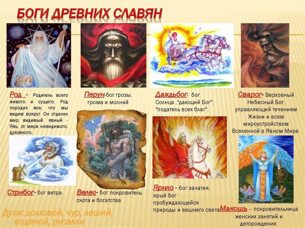 славянские боги картинки с именами и значение стола необходимо тщательно