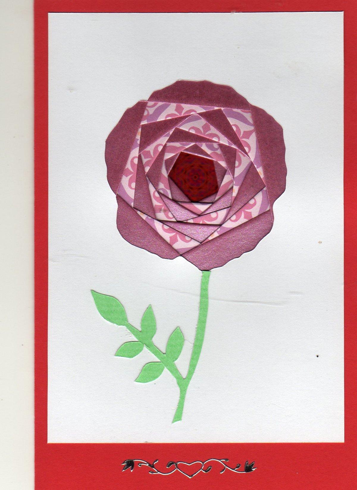 Открытка айрис фолдинг цветок
