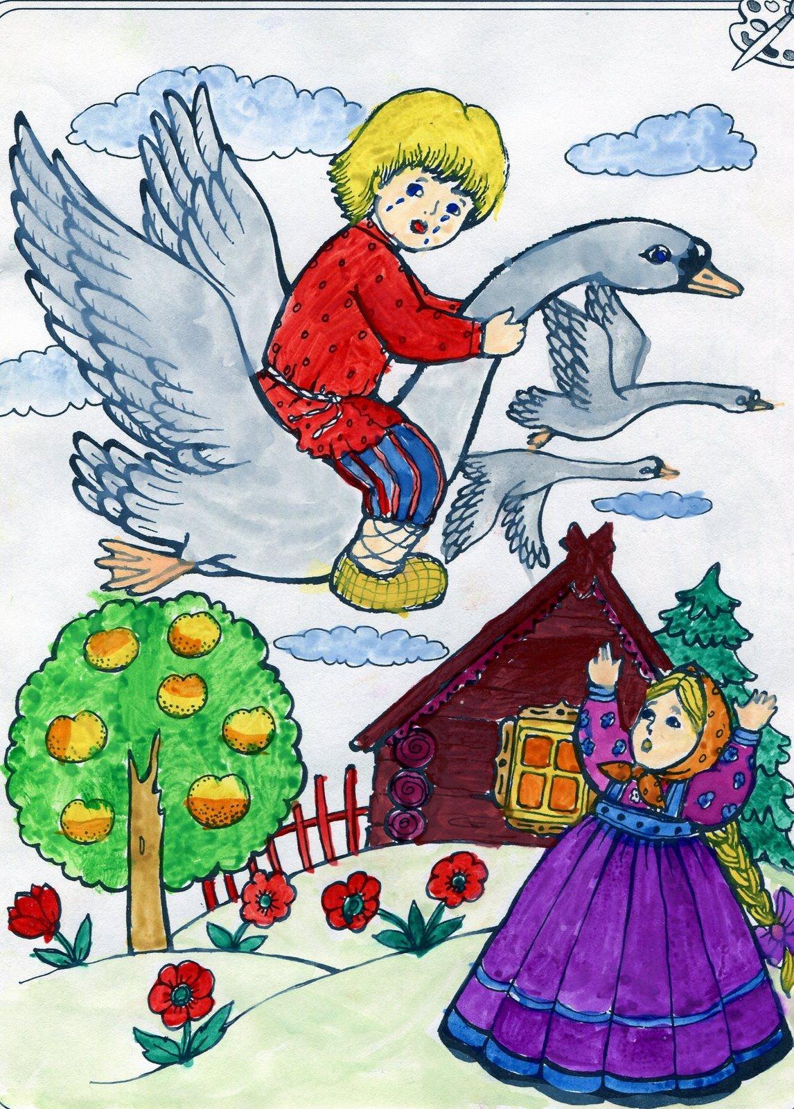 Картинки для срисовки сказки русские народные
