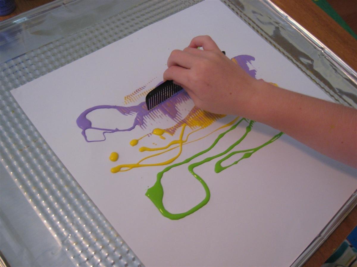 Нетрадиционные способы рисования картинки