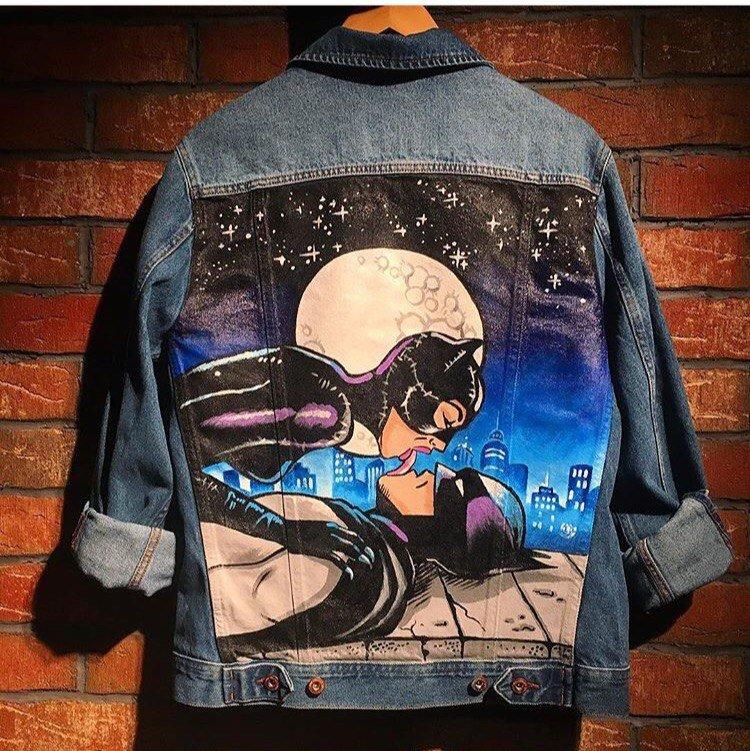 рисунок на джинсовой куртке акриловыми красками обмундирование для разных