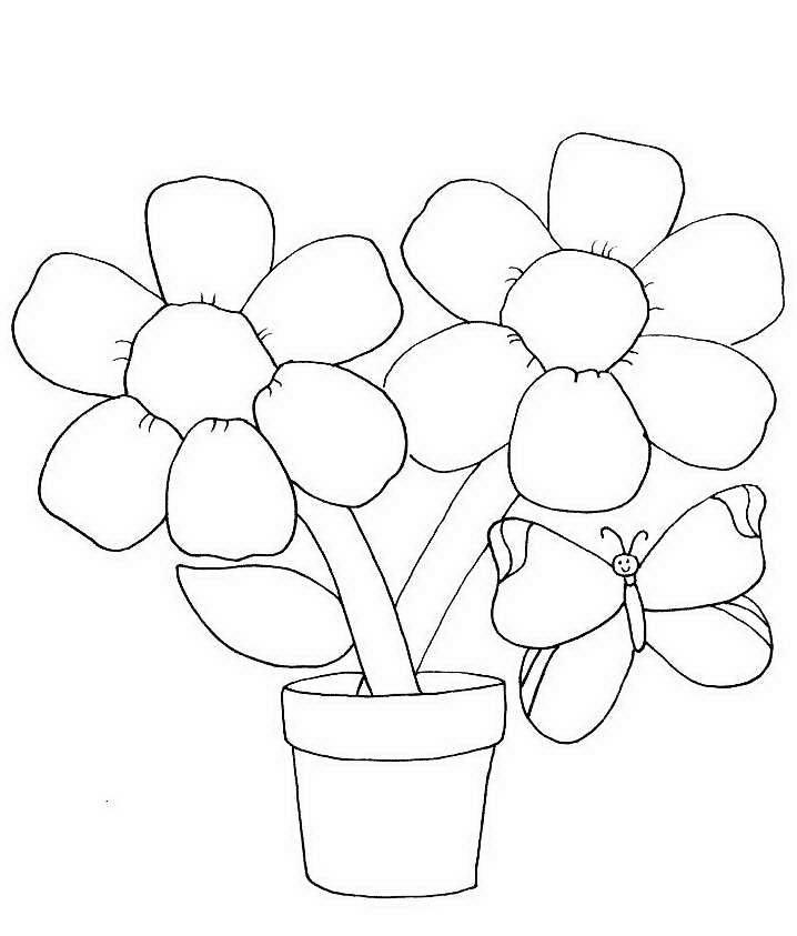 Картинки аппликации цветы в стакане простым карандашом