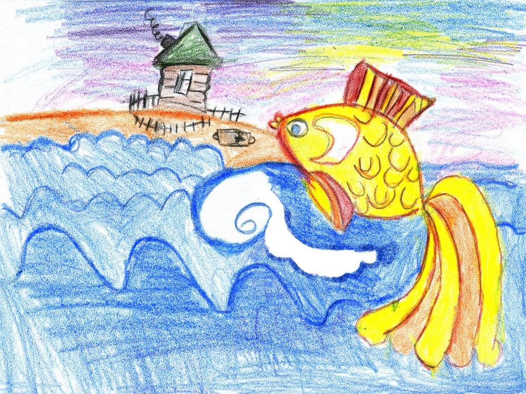 Рисуем иллюстрации к сказкам пушкина