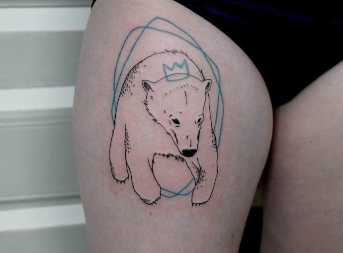 картинки наколки с белым медведем или