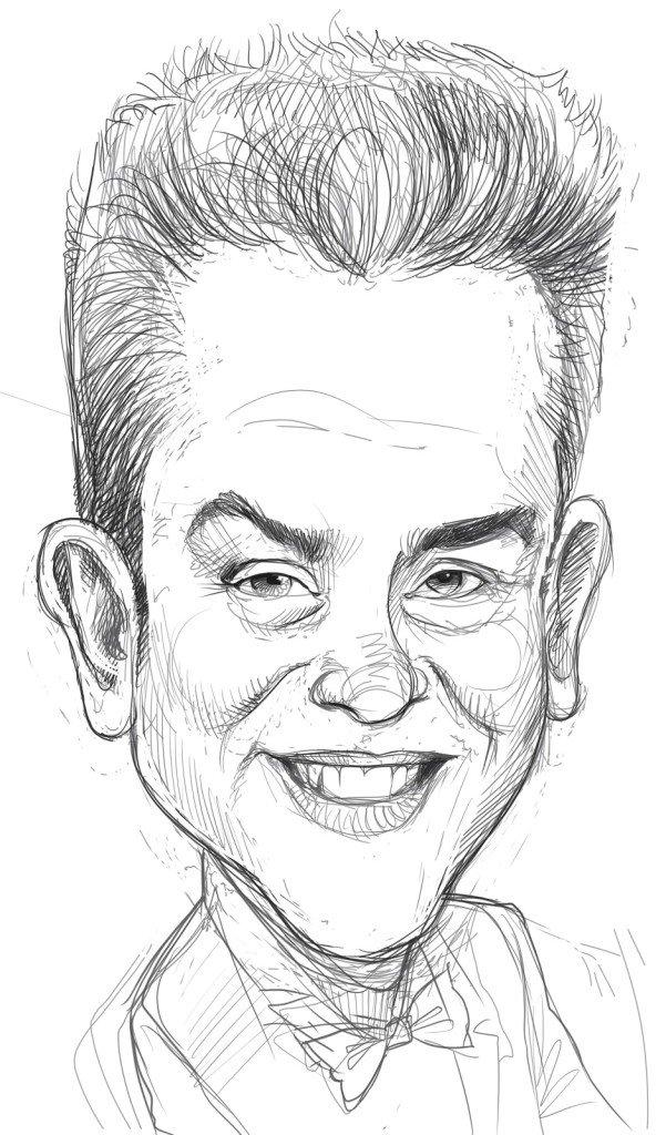 Думаю, рисунок смешного лица человека