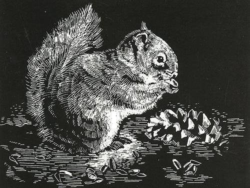 Объемной, линогравюра картинки животные