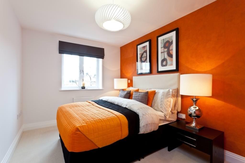 примеру, если дизайн спальни в оранжевых тонах фото чем