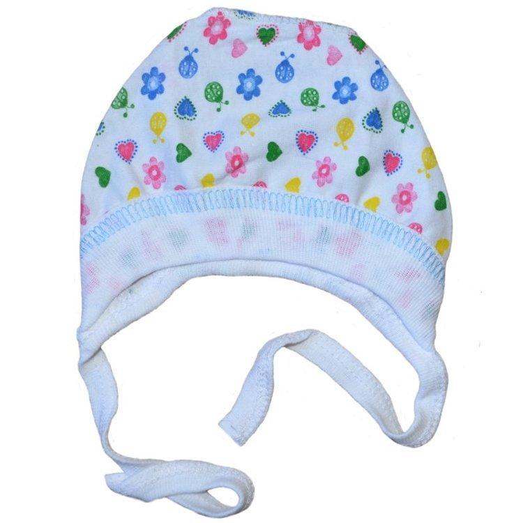 Созданный специально для новорожденных малышей чепчик выполнен с учетом повышенной чувствительности и нежности кожи младенца.