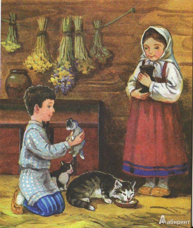 Рассказ л н толстого котенок с картинками