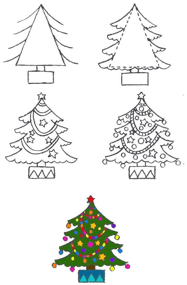 Рисуем открытку к новому году поэтапно презентация