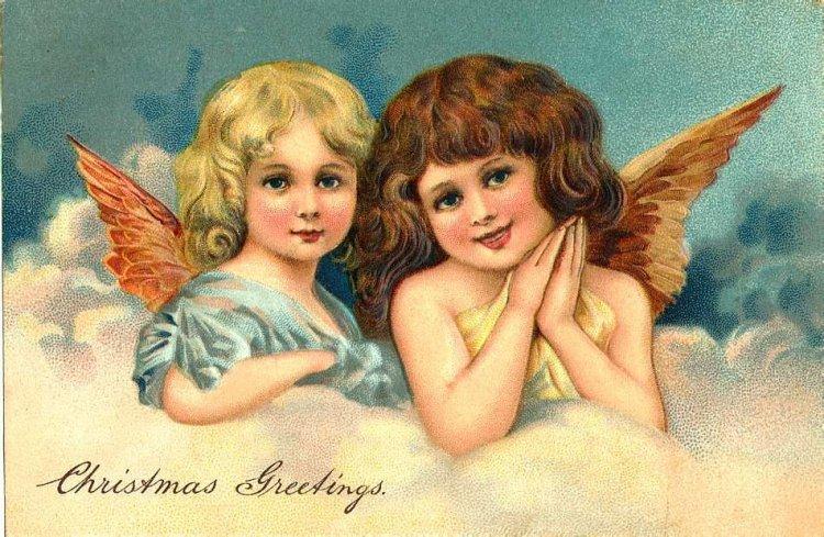 Дню, картинки на открытку ангелы
