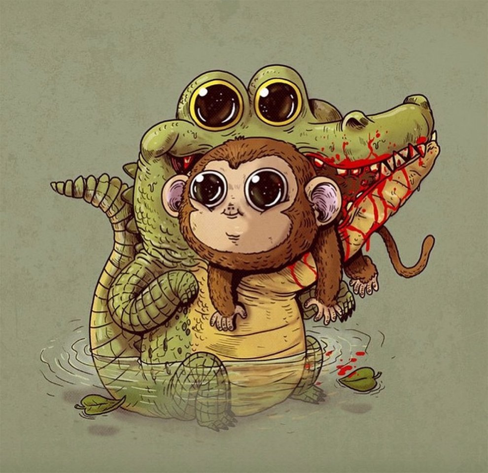 Прикольные рисунки животных