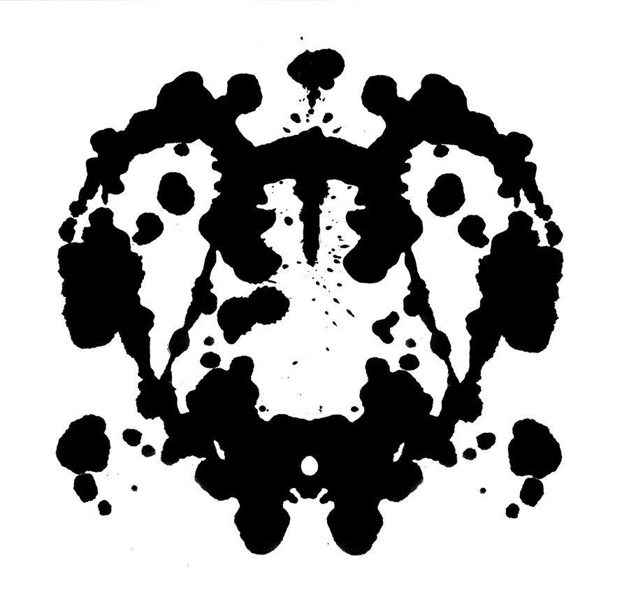 психологический тест картинка кляксы скамейки наверно