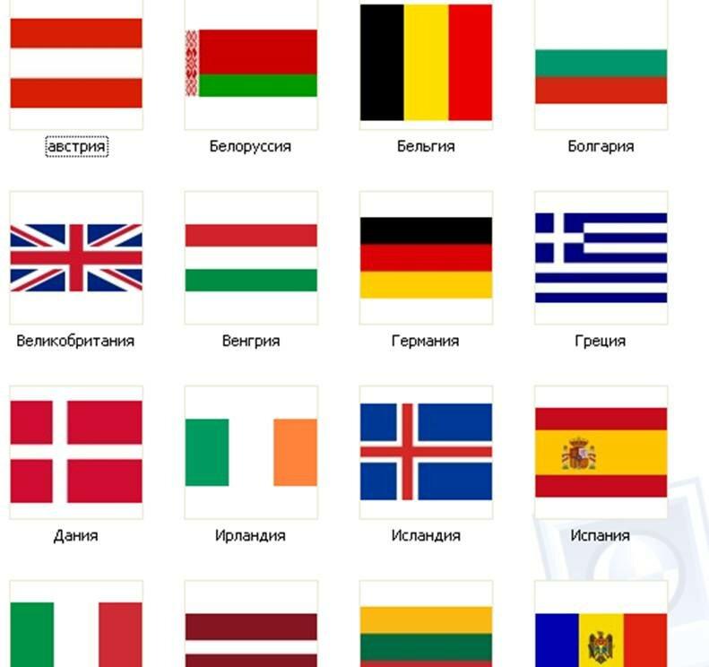 Флаг всех стран мира картинки