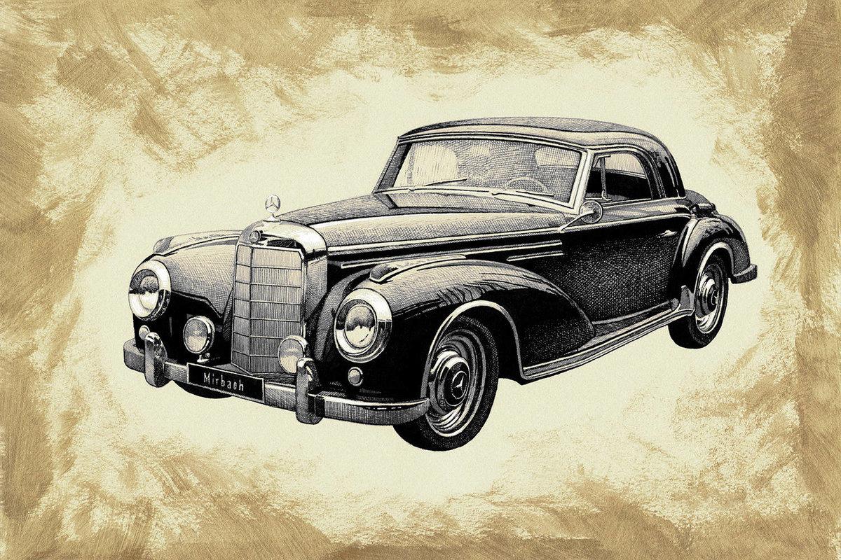 Винтажные картинки автомобиль