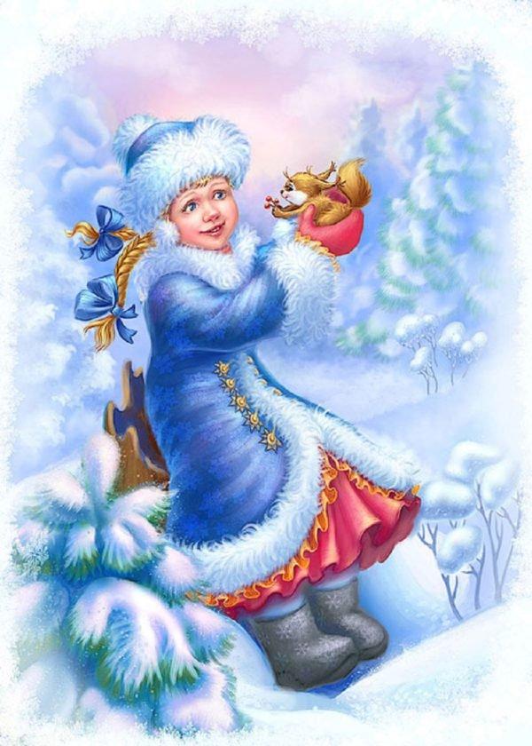 Картинки с новым годом снегурочка красивые