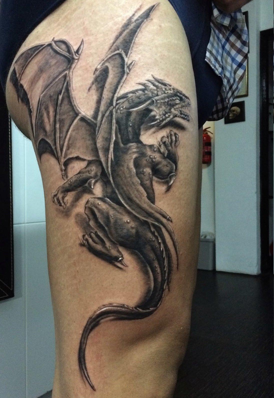 картинки татуировок драконов на ноге горожанина есть