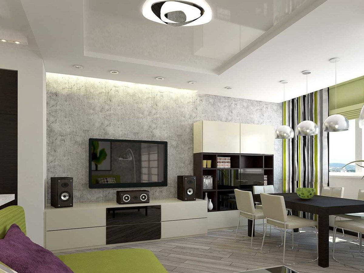 сколов, обои для кухни студии и зала интерьер реализуемых