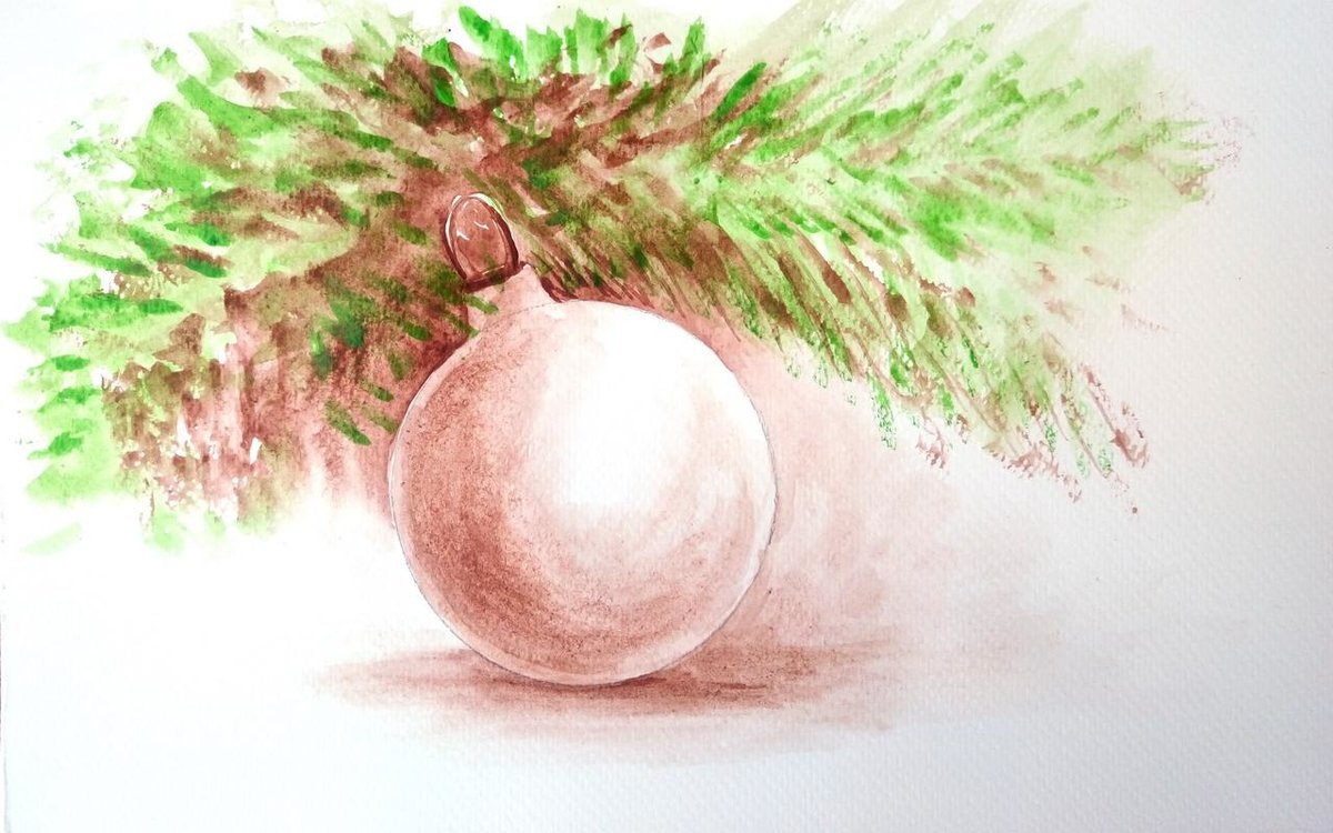 Новогодние картинки с елочками нарисовать видео акварелью, для