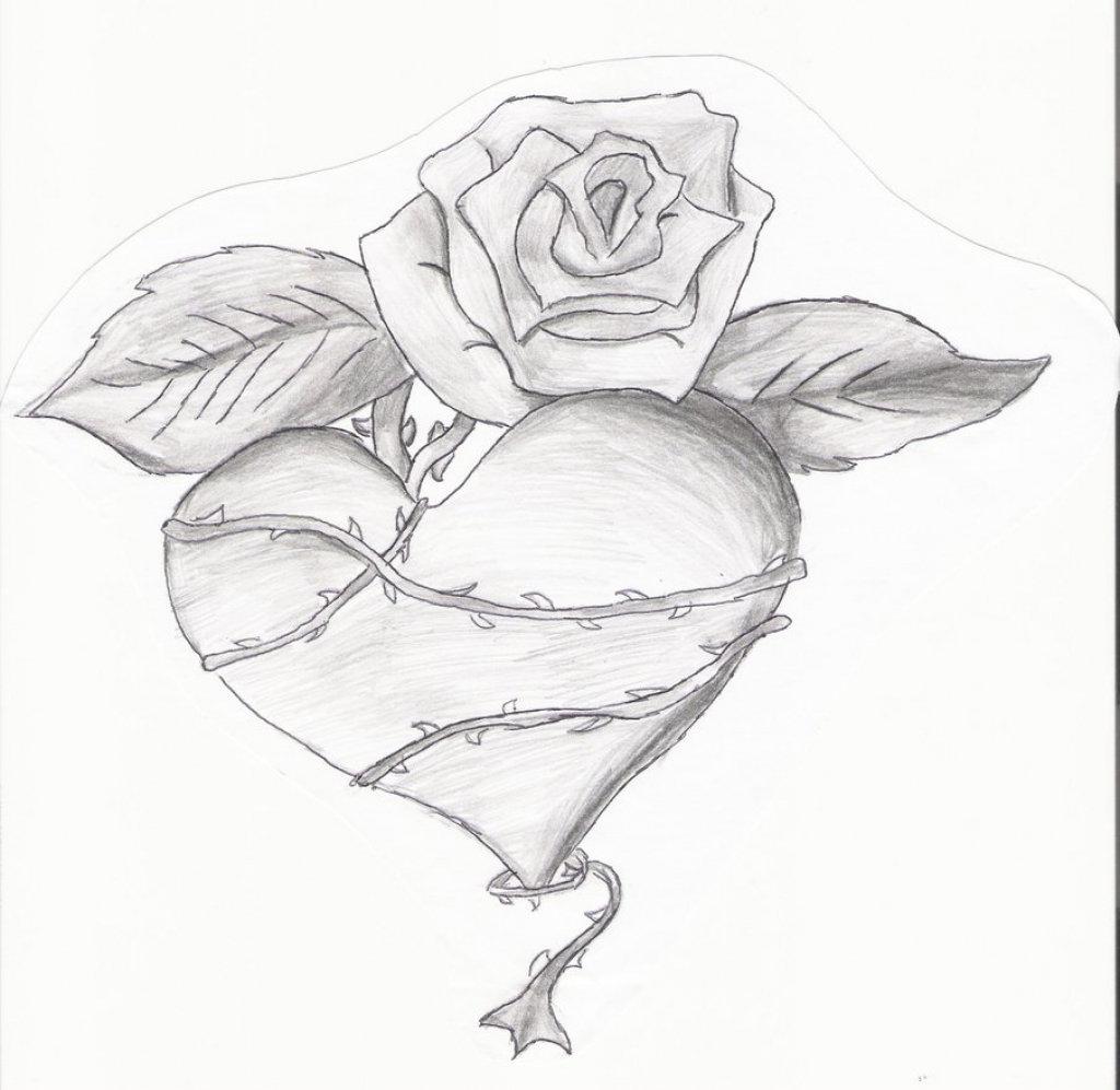 Картинки карандашом для срисовки легкие и прикольные сердце