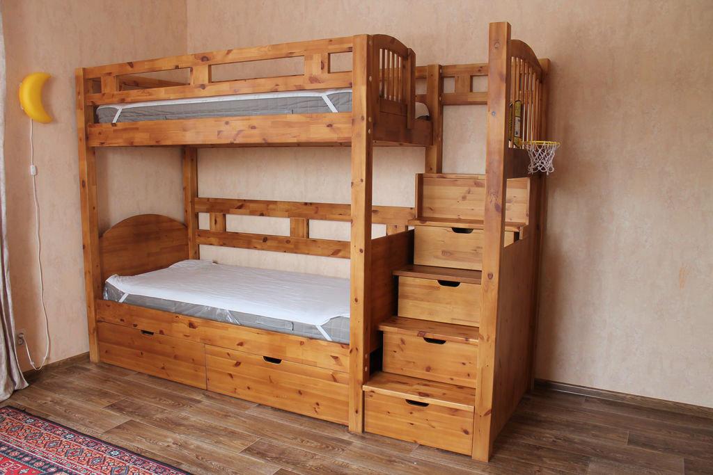 также деревянные двухъярусные кровати фото фарш