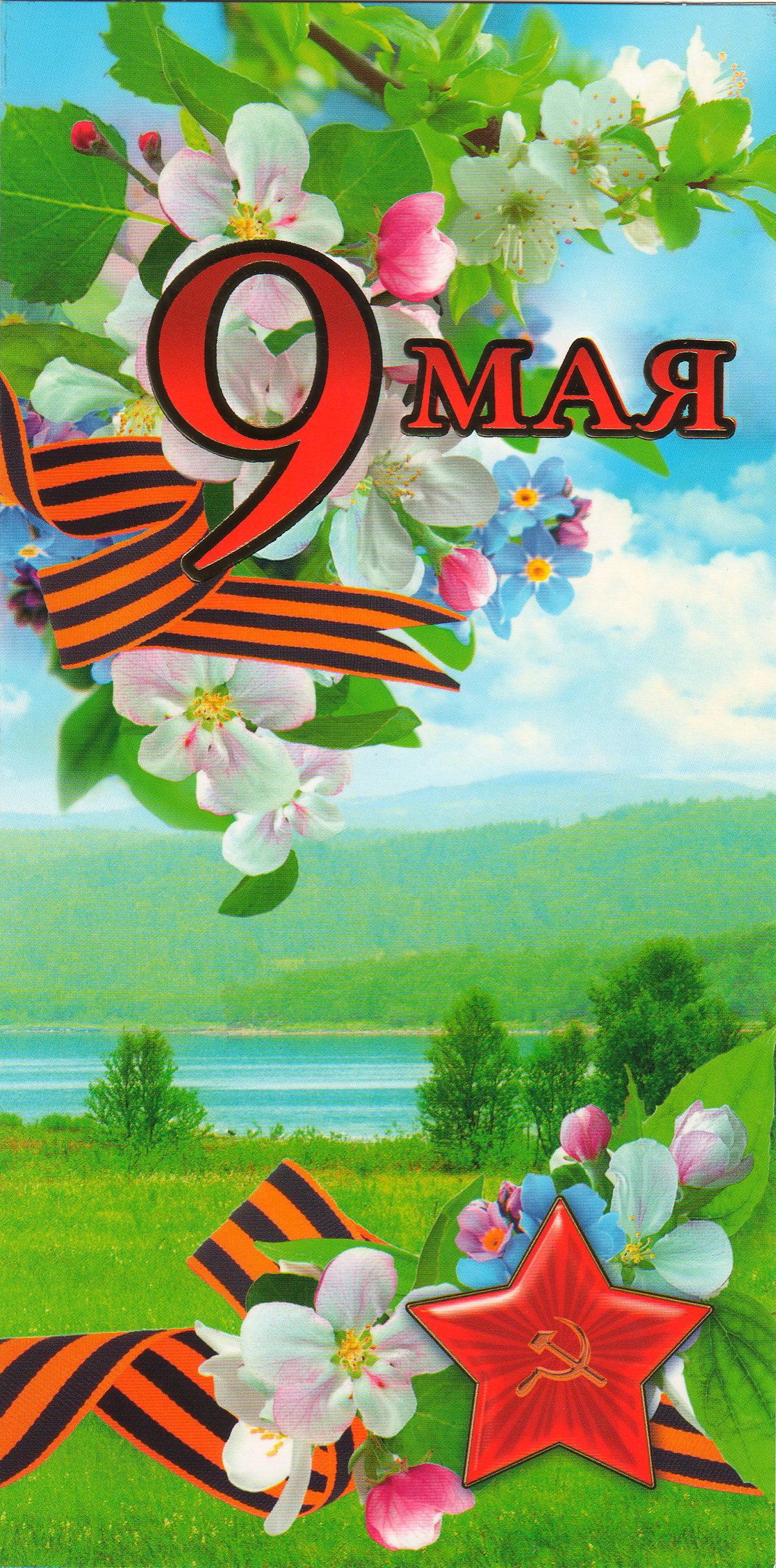 Большая открытка на 9 мая, день