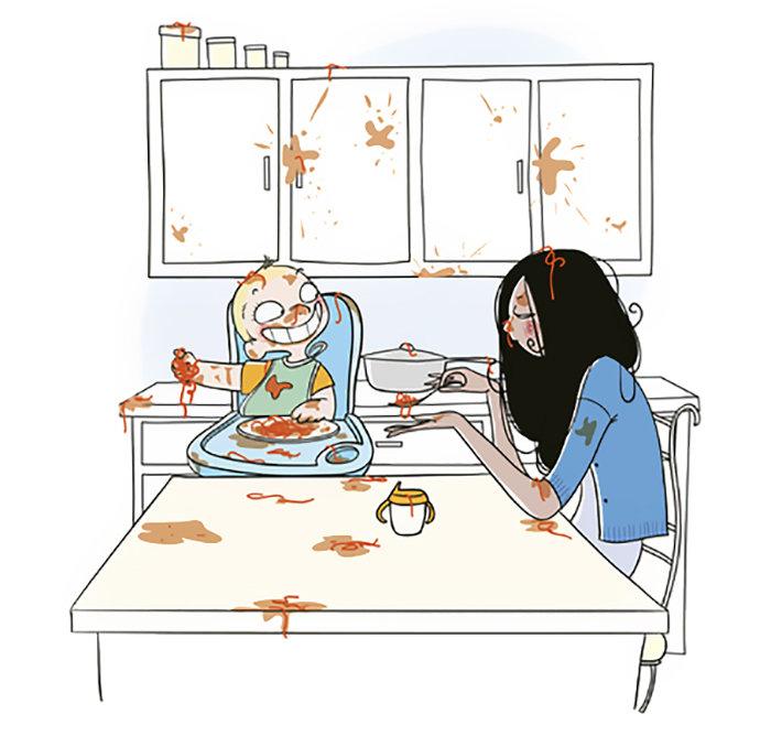 Прикольные картинки про материнство, днем
