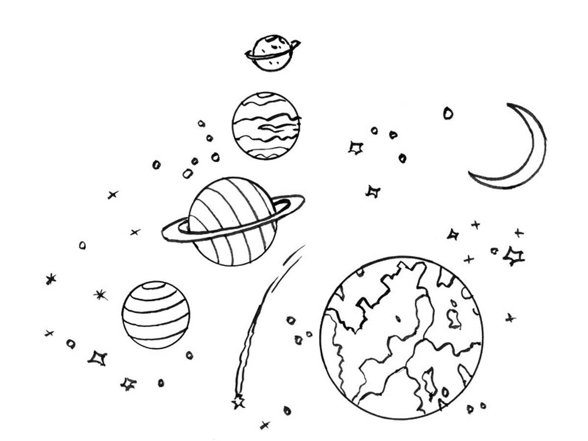 Картинки планеты черно-белые