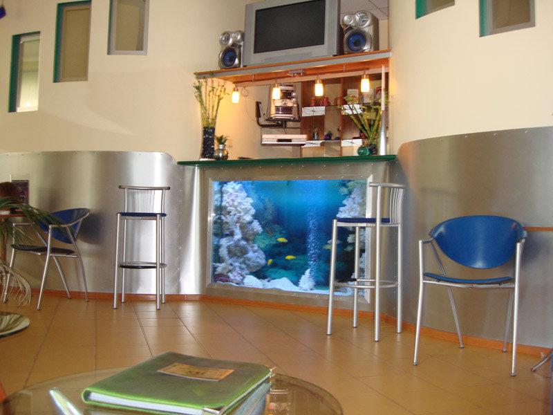 Фото аквариум барная стойка