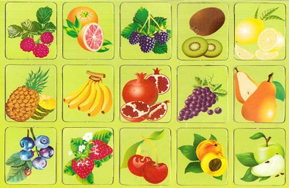 требования ознакомление с овощами фруктами в картинках островного