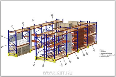 фронтальные стеллажи для склада под европаллет